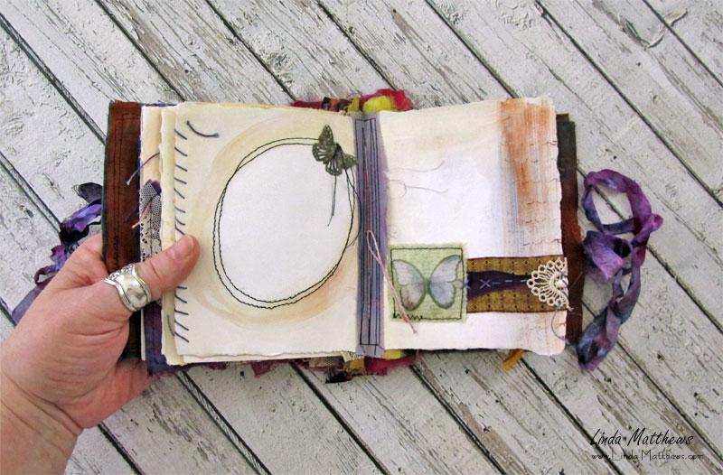 Fabric Art Journal - Wings