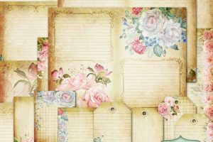New in the Store: Vintage Roses Printable Journal
