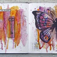 An Art Journal Page: Honor the Journey