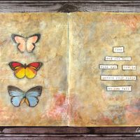 An Art Journal Page: With Wings you can Fly … or Crash and Burn