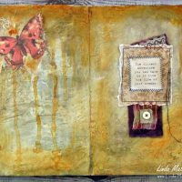 An Art Journal Page: The Path of Dreams