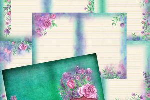 New in the Store: Watercolor Garden Printable Writing Journal