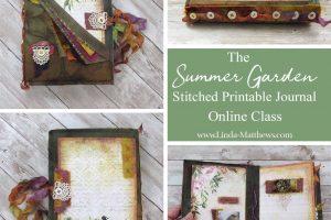 The Summer Garden Stitched Printable Journal