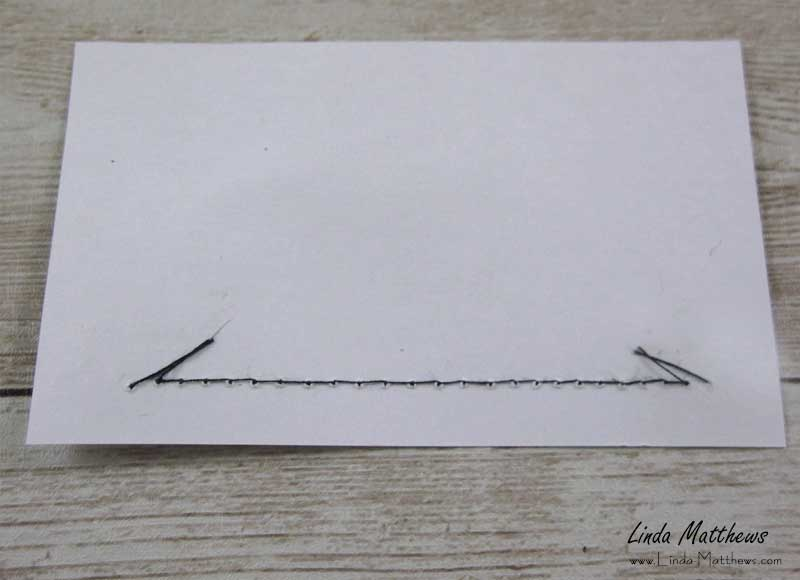 Tips for Sewing on Paper