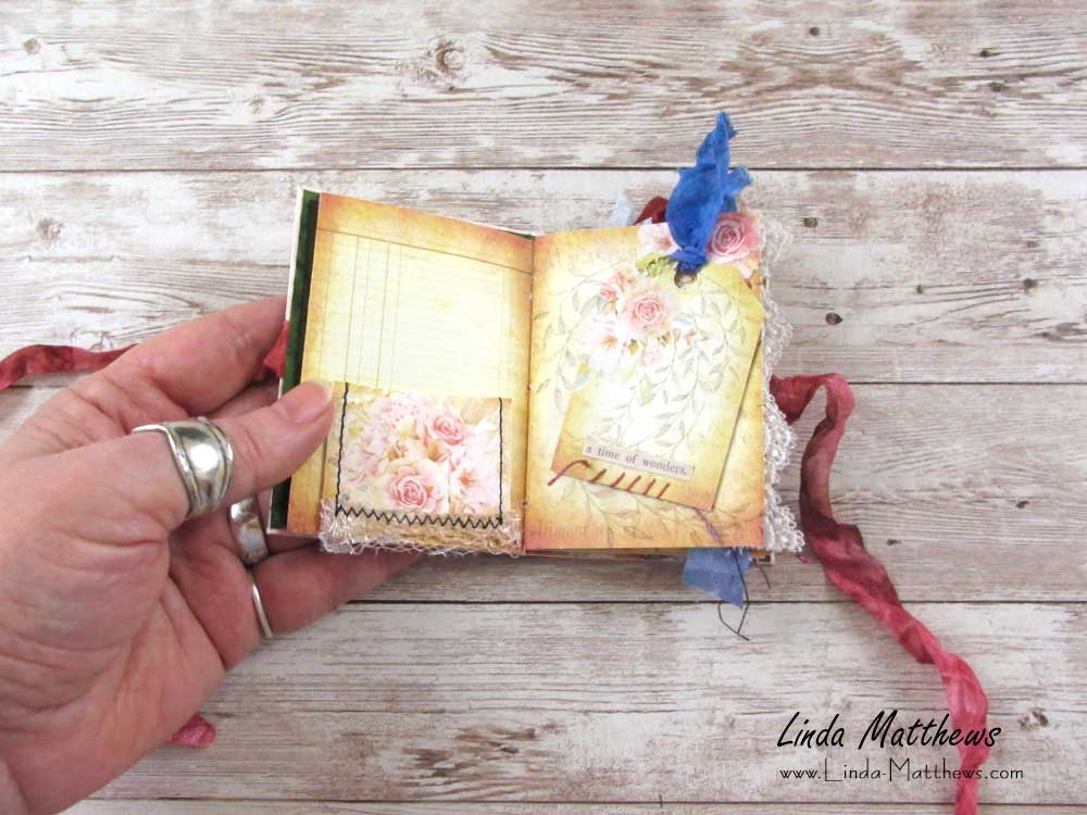 Vintage Roses Mini Junk Journal Kit
