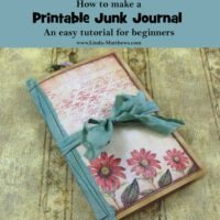 Free Beginner Tutorial - How to Make a Printable Junk Journal