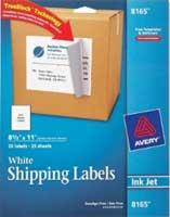 Full sheet size sticky labels