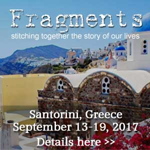 Join me in Santorini, Greece for Fragments: stitching together the story of our lives